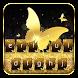 Gold Glitter Keyboard Theme by Keyboard Dreamer