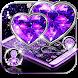Purple Diamond Heart Theme