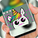 Cute unicorn Keyboard by Jubee Theme Studio