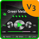 Green Metal PlayerPro theme by New Player Themes