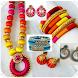 Silk Thread Jewelry Bangles NecklaceEarrins 2018