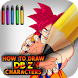 How to draw your amazing DBZ characters by GUMOX