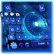 Blue Tech Keyboard Theme by cool wallpaper