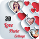 3D Love Photo collage by Multimedia video