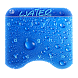 Blue input water drop keyboard by 3D, Launcher, Input, Live Wallpaper, Themes World