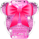 Pink bow Diamond minny Keyboard by Bestheme Pink shining album collection