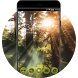Wild Forest Sunset Theme: Green Nature Wallpaper by Cool Theme Workshop