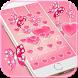Pink Theme Love Heart diamond by fancy themes