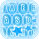 Neon Blue Keyboard by Trendsetting Apps for Girls