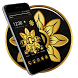 Golden Butterfly Diamond 2D Android Theme by trendy apps and Live wallpapers