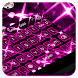 Neon Pink Keyboard by Cool Keyboard Theme Studio