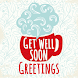 Get Well Soon Greetings - Add Text on Wishes card by developeradroid