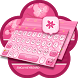 Pink Flower Theme&Emoji Keyboard by Fun Emoji Theme Creator