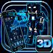 3D Neon Pixel Robot War Theme by Elegant Theme