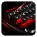 Black Red Keyboard by Cool Theme Studio