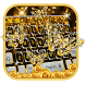 Gold Butterfly Diamond Keyboard Theme by cool wallpaper