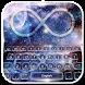 Bubble Glass Drop Galaxy Keyboard by Keyboard Theme Creator