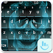 Hell Skull Fire Keyboard Theme by Sexy Apple