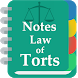 Law of Torts Notes by Chamber of Advocates