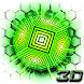 Neon Hexagon Tech 3D Theme by no.1 3D Theme