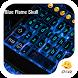 Blue Flame Skull Eva Keyboard by Eva Awesome Theme