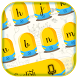 Cute Yellow Cartoon Keyboard Theme by cool wallpaper