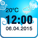 Weather Clock Widget by The World of Digital Clocks
