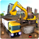 Construction Crane Excavator - Road Builder Sim 17 by Dolphin Games