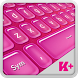 Keyboard Plus Hot Pink by Free Keyboard Themes HD