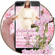 God Christ Cross Cherry Blossom Floral Keyboard by My Lovely Android Themes 2018