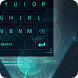 blue neon light future keyboard cyan by Keyboard Theme Factory