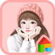 lovely girl smile dodol theme by iconnect for Phone themeshop