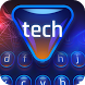 neon blue tech keyboard crystal science cloud by Keyboard Creative Park