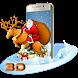 Merry Christmas Santa 3D Theme by 3D Theme World
