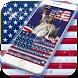 American flag Keyboard Theme by Fantasy Keyboard studio