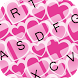 GO Keyboard Pink Hearts by coolthemex