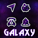 Free Galaxy Theme Icon Pack by xvioletroses