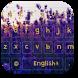 Purple Lavender Keyboard Theme by beautifulwallpaper