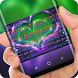 Neon Heart Theme Purple Green Keyboard by Sexy Theme Design for Smart Phone