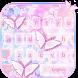 Pink Butterfly Keyboard Theme by NeoStorm We Heart it Studio