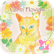 Cute Wallpaper-Cat in Flowers- by +HOME by Ateam
