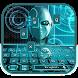 ai robot future keyboard blue by Keyboard Theme Factory