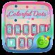 Colorful Dots GO Keyboard Theme by Keyboard Fashion New