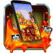 Flowing Lava Theme by The Best Android Themes