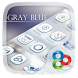 Gray Blue GO Launcher Theme by Freedom Design