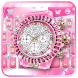 Pink Luxury Watch Keyboard Theme by Fancy Theme for Android keyboard
