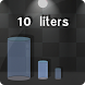 10 liters of water. by mawika