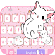 Pink kitty Keyboard theme by Locker Themes Center