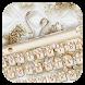 Pearl Diamond Luxury Gold Theme by Bestheme Keyboard Designer 3D &HD