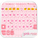 Pink Rose Emoji Keyboard Theme by Colorful Design